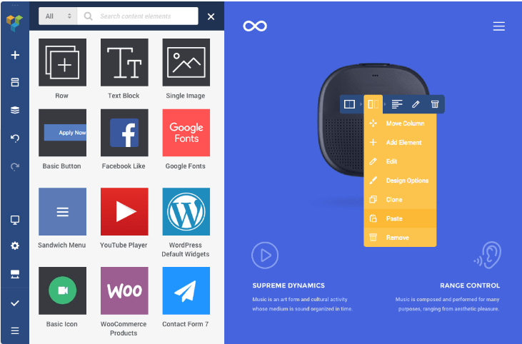 WordPress Visual Editors - Visual Composer