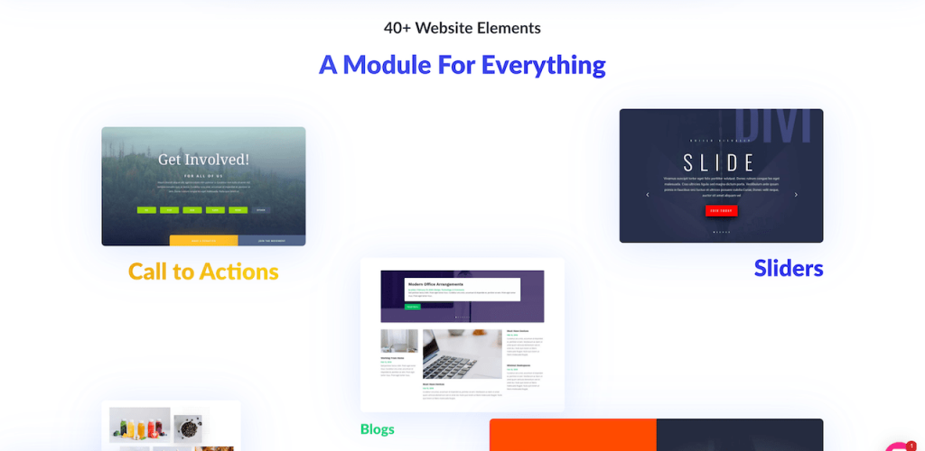 Divi page builder modules