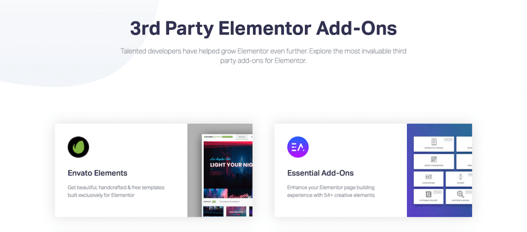 Addons for the Elementor page builder