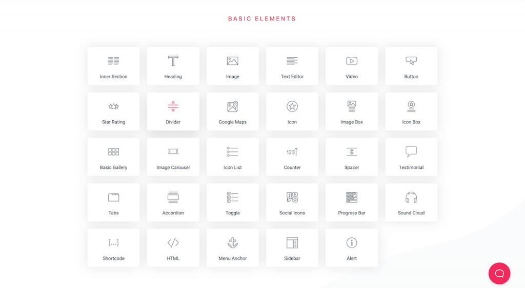 Elementor basic modules
