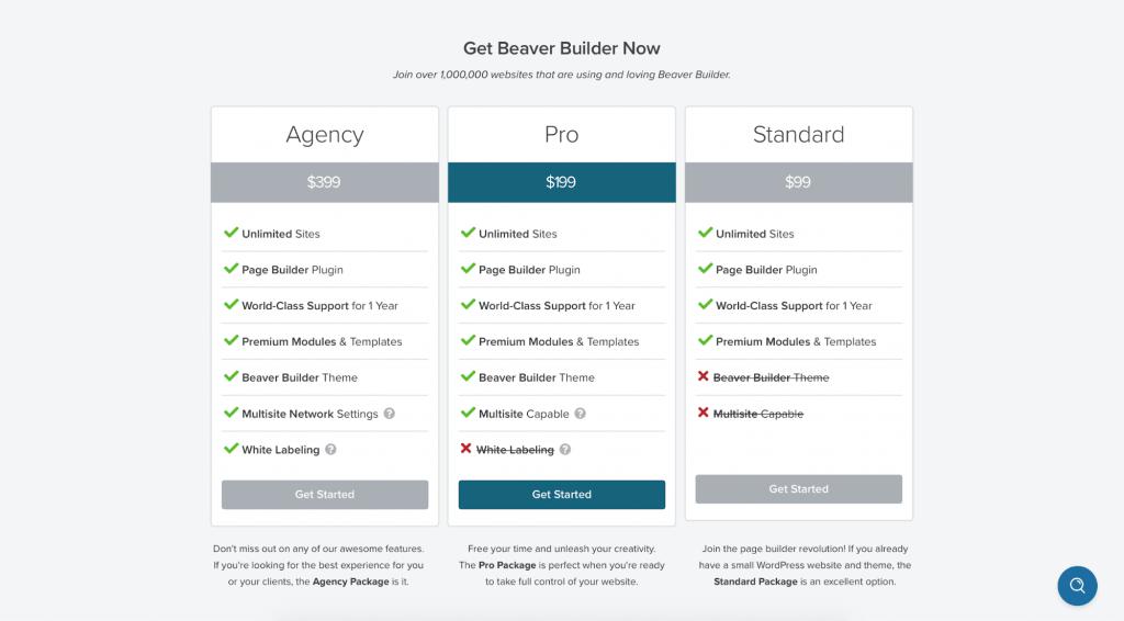 Beaver Builder plans