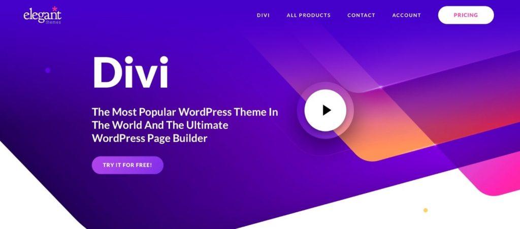 Divi builder to build website from scratch