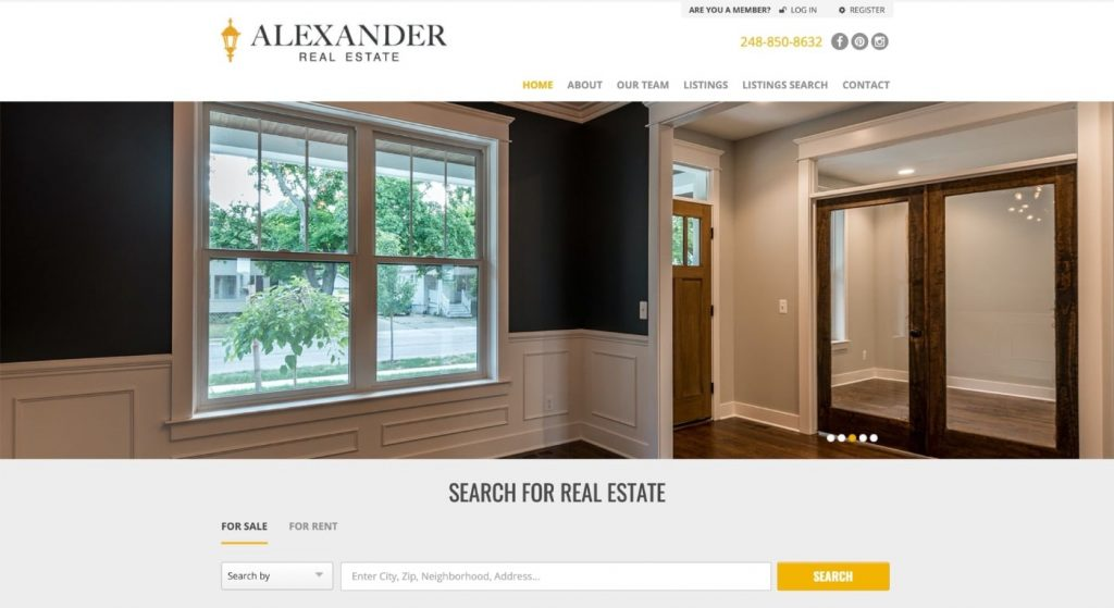 Example of business website