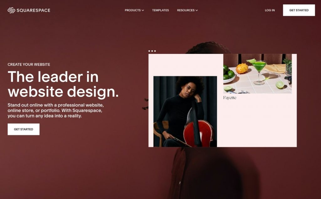 Squarespace website builder to build website from scratch