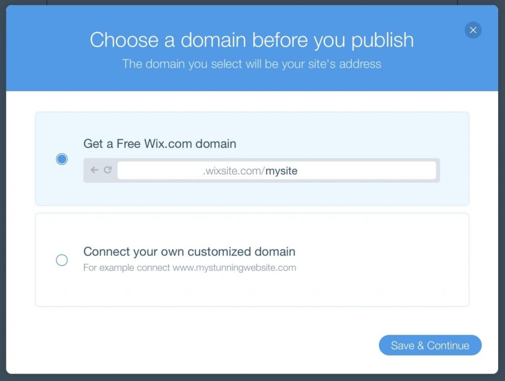 WIX domain connect to the website