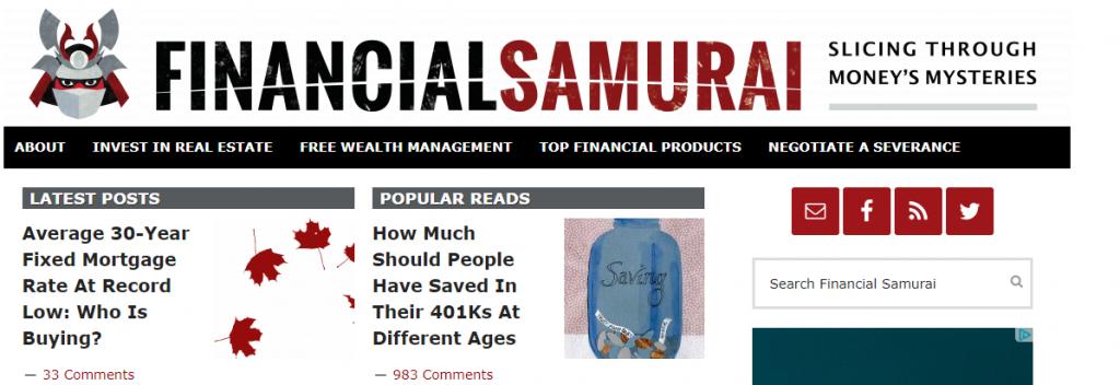 Expert finance blog from Financial Samurai