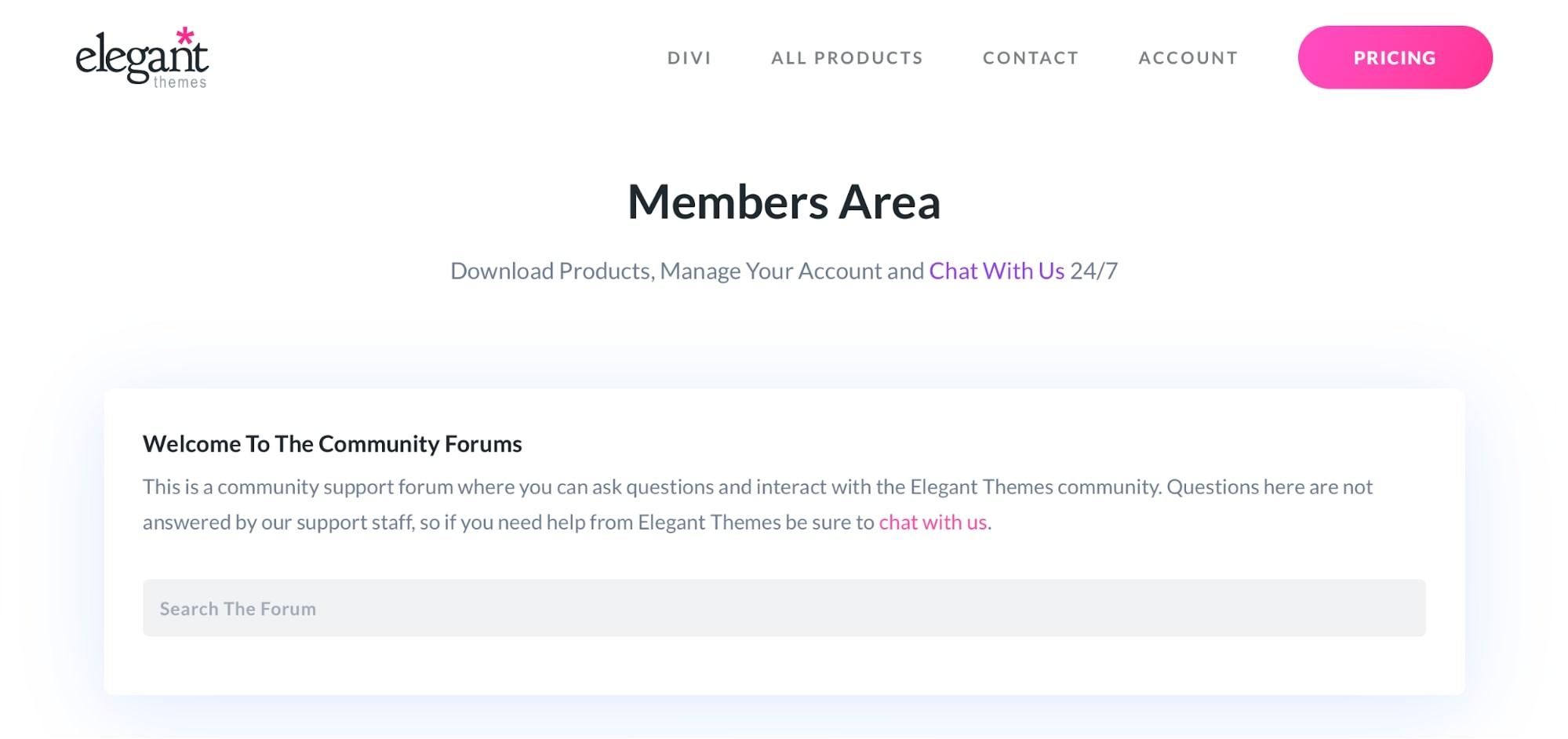 Divi Support Forum