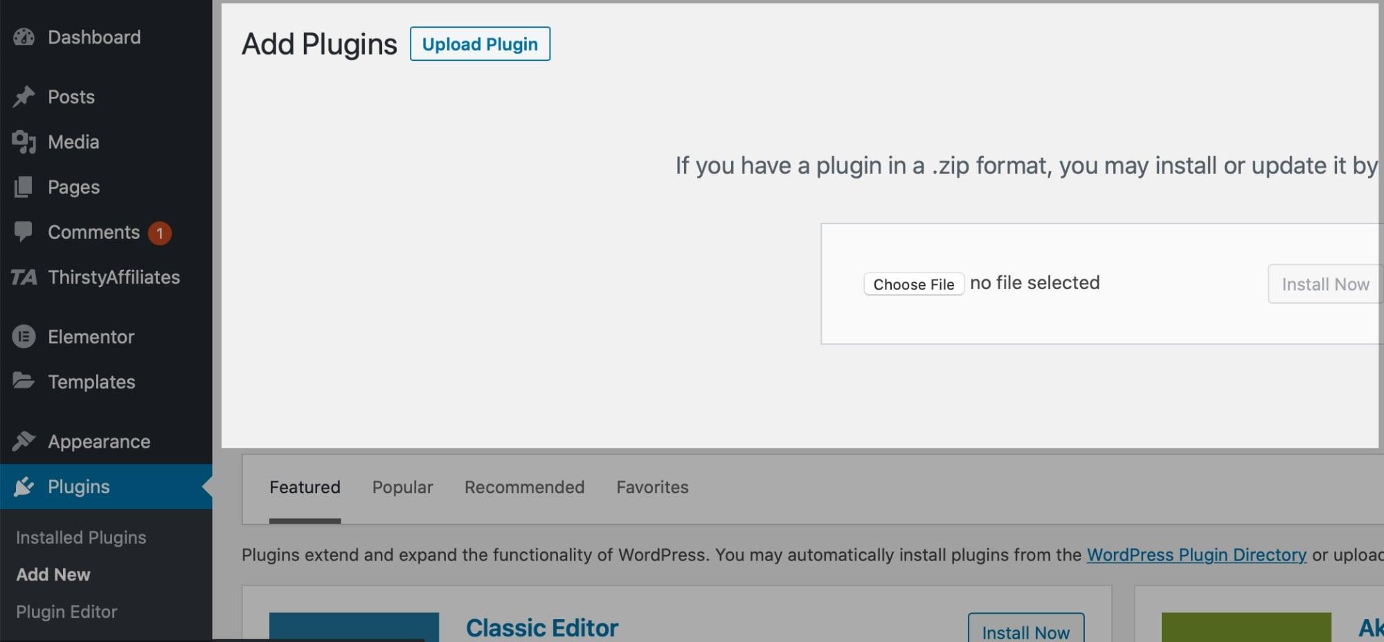 Divi Theme Installation in WordPress