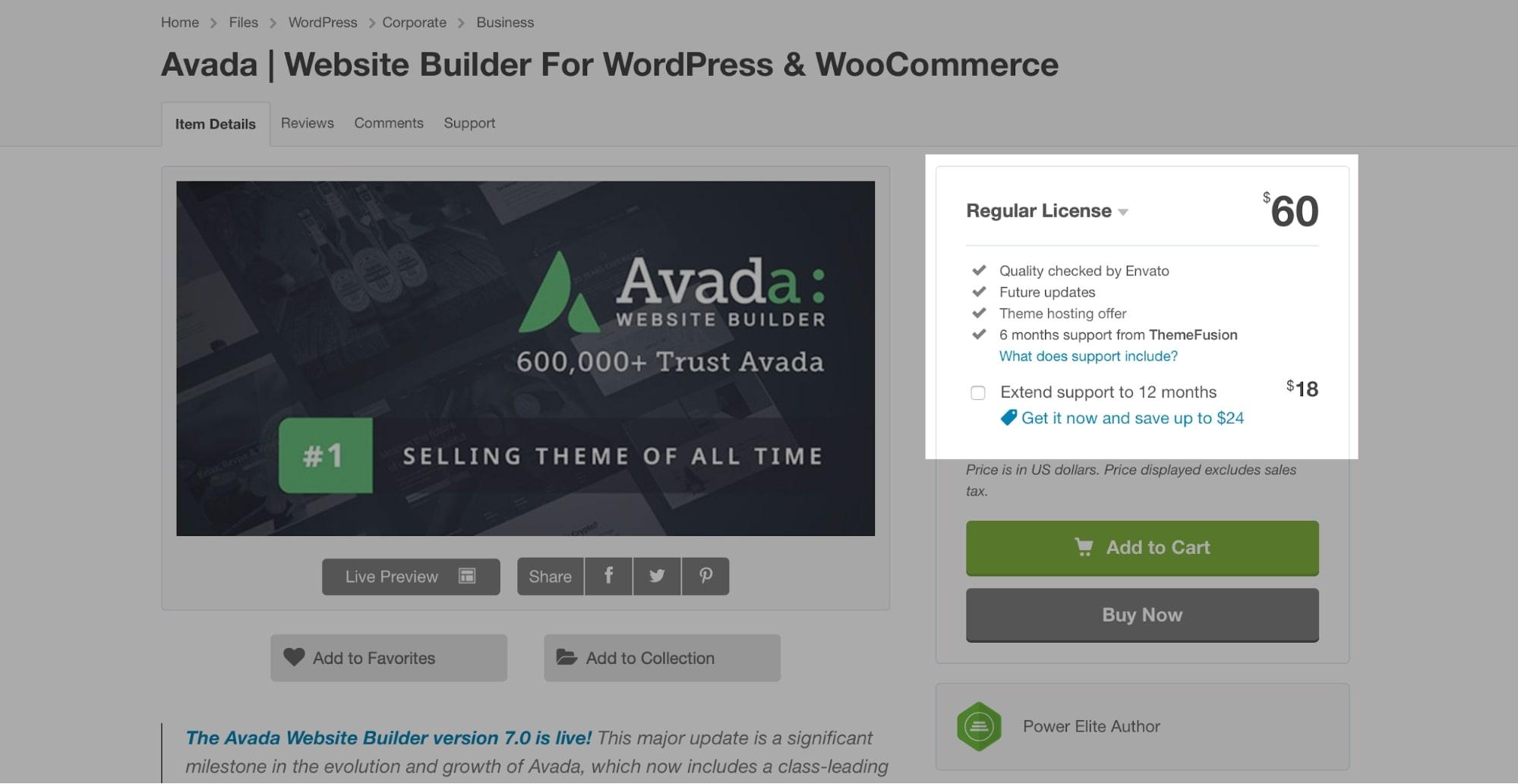 Divi vs Avada Pricing
