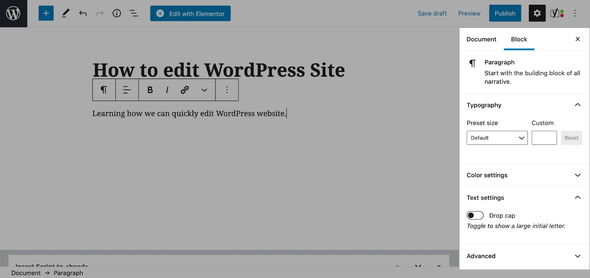 how to edit pages in wordpress