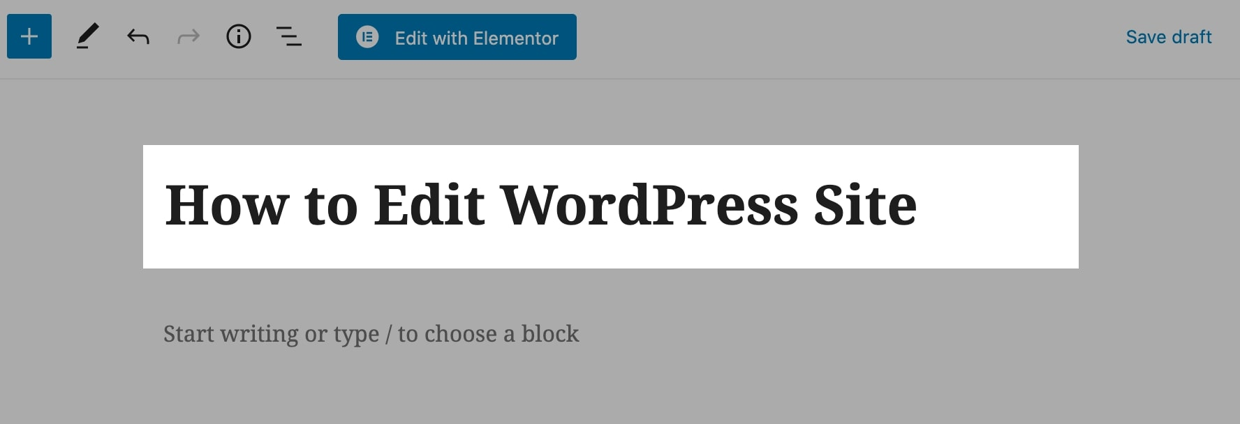 how to edit wordpress site