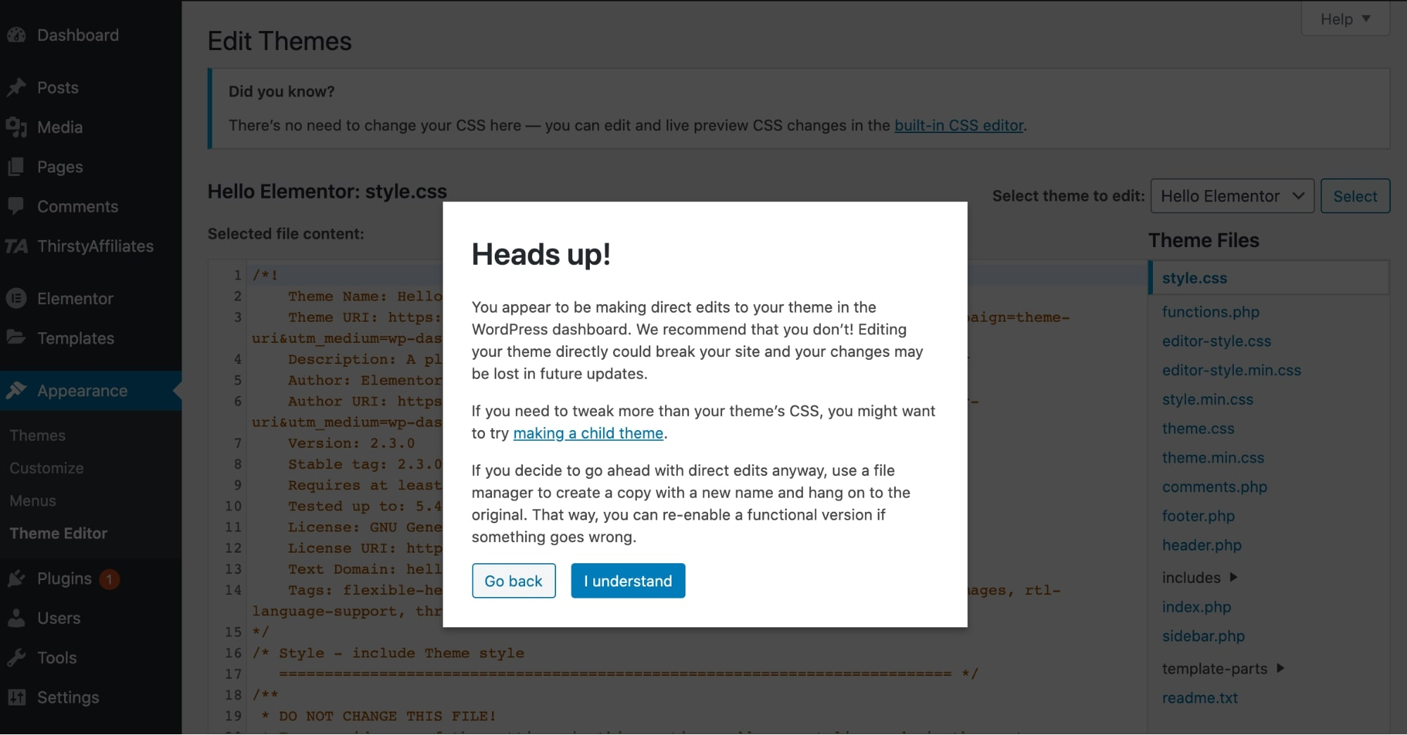 WordPress how to edit home page