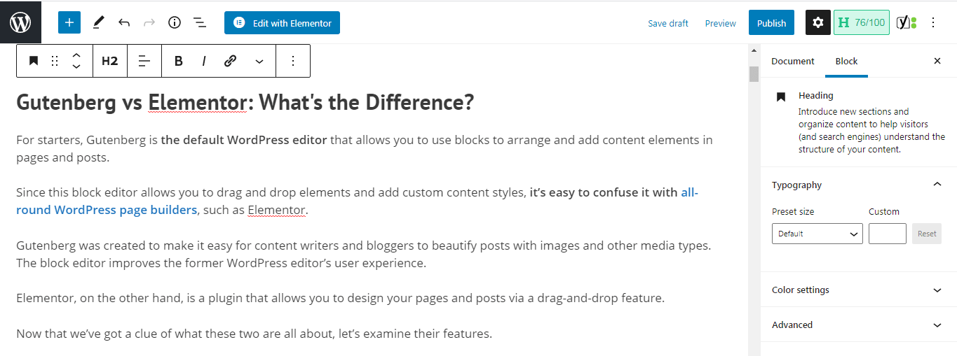 Gutenberg is a backend WP editor