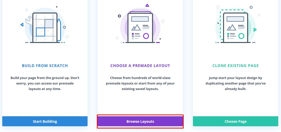 divi builder layouts for editing wordpress homepage