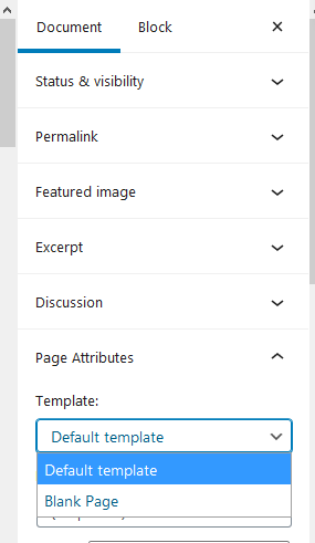 Choose divi builder template to edit home page