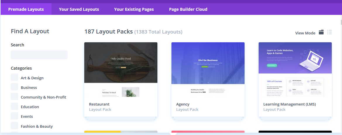 learn how to edit home page in wordpress by choosing divi builder layout pack