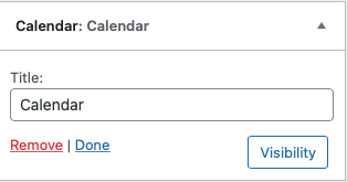 Customizing Calendar widget