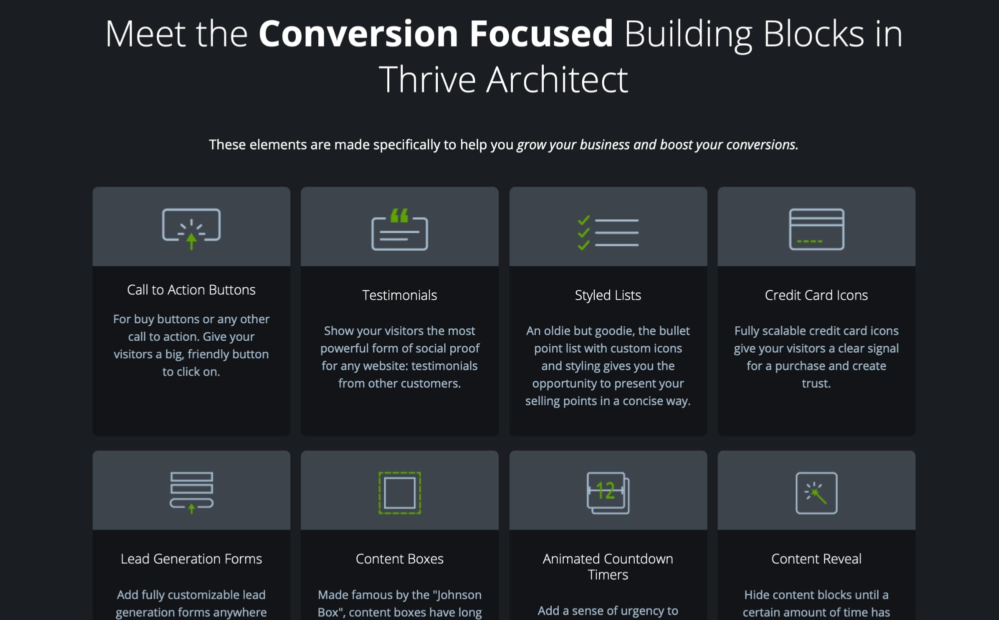 Thrive content elements