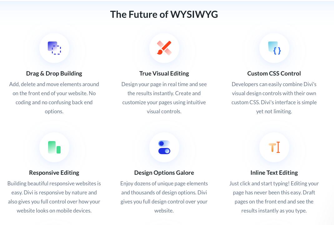 Divi Page Builder Features