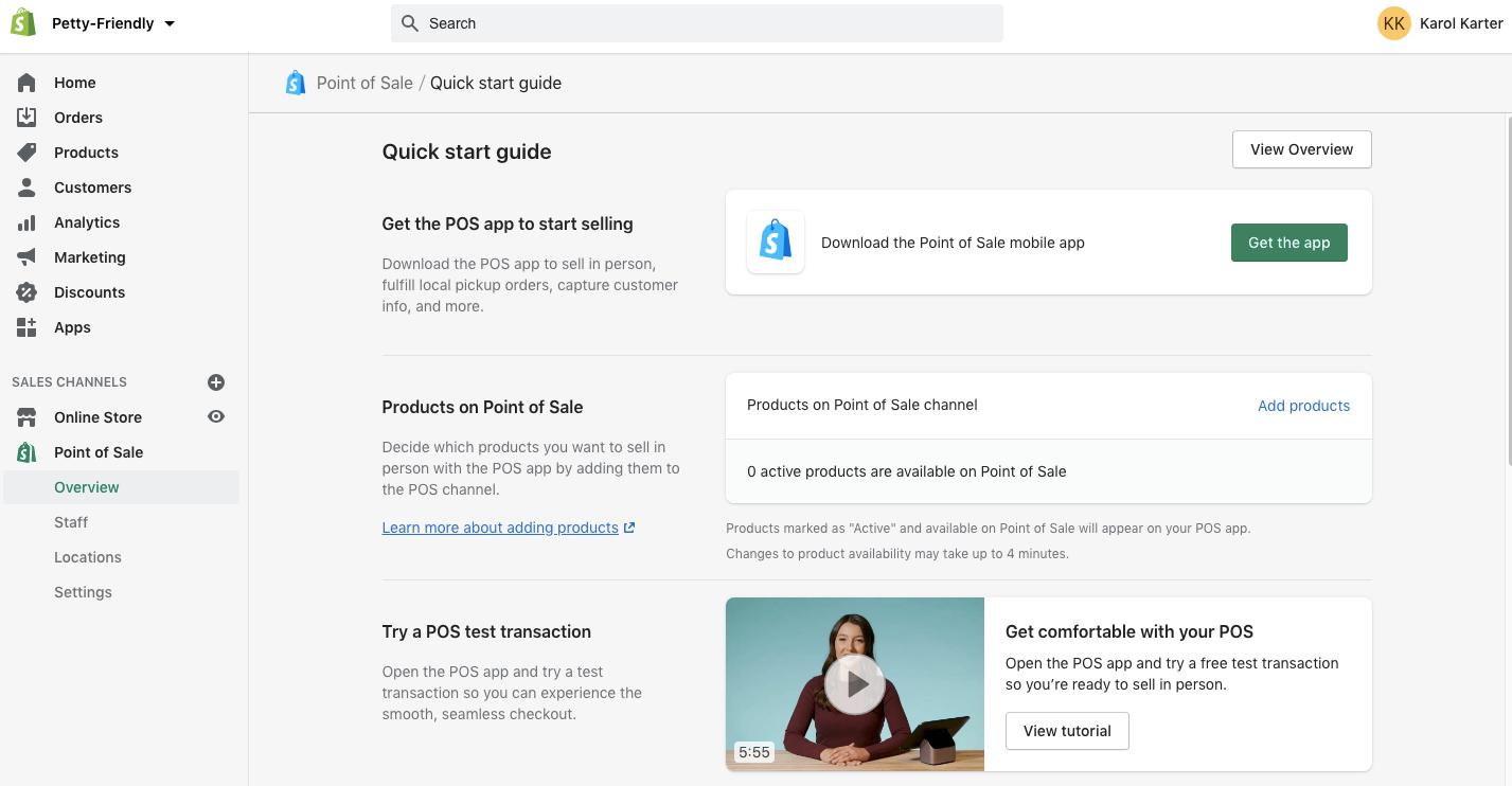 Shopify vs WordPress - Shopify Dashboard