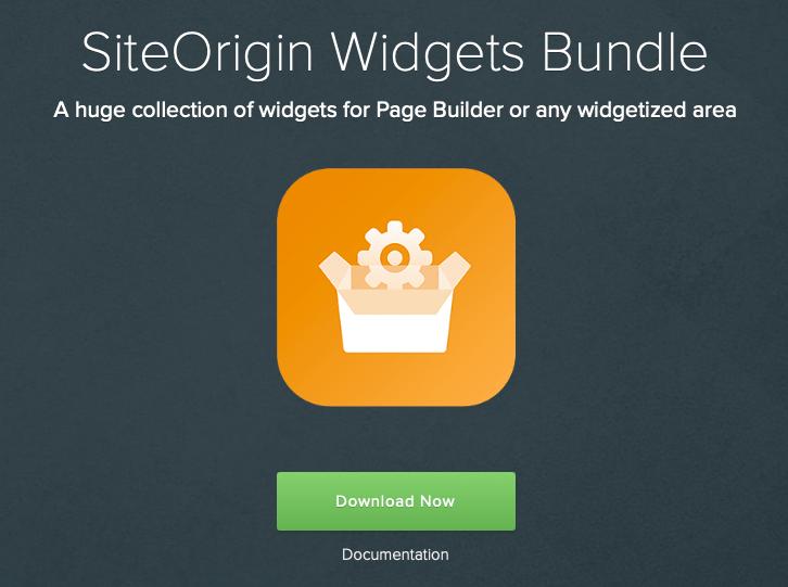SiteOrigin Widget Bundle