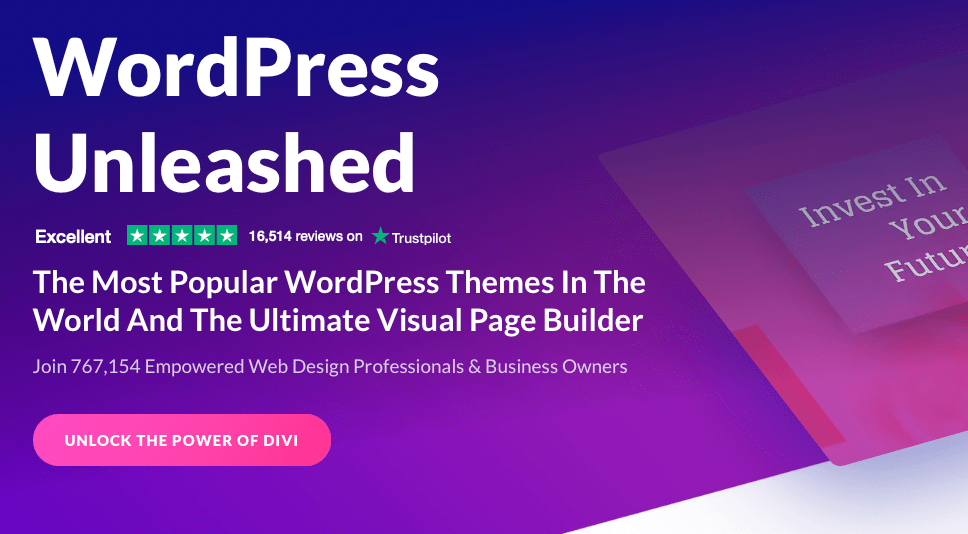 The most popular WordPress themes and page builders
