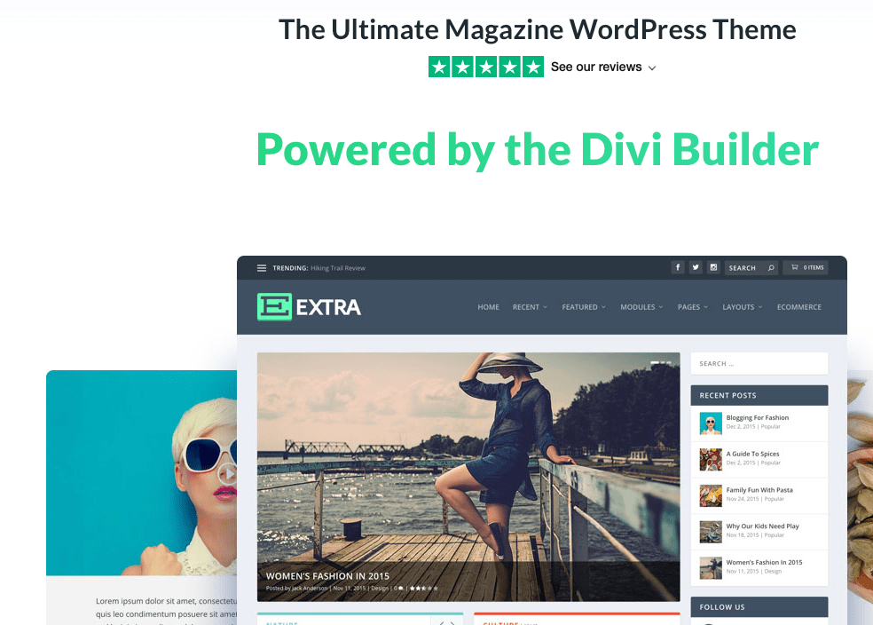 Extra WordPress theme for online magazines