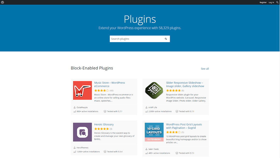 Worpress plugins and themes for customizing your website