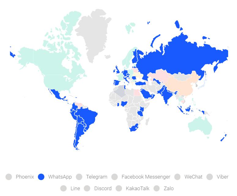 Whatsapp global map
