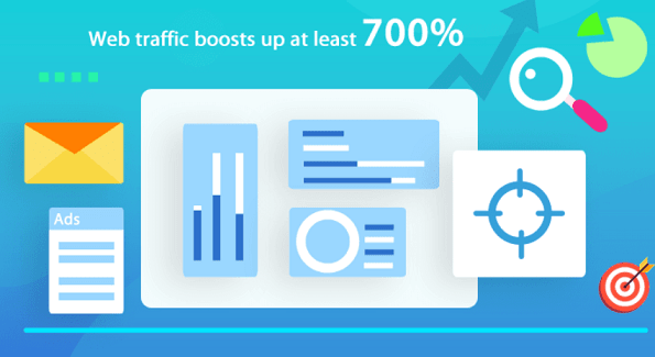 Web traffic can rise by 700%